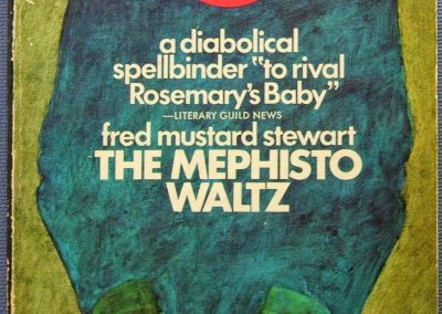 he Mephisto Waltz, (Mar 1970, Fred Mustard Stewart, publ. Signet New American Library, #Q4184, $0.95, 192pp, pb) Cover R. Heidel